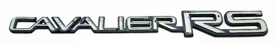 """Надпись б/у """"CAVALIER RS"""" 290х33мм"""